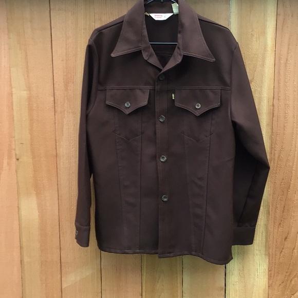 Vintage LEVI'S brown jacket 70's Disco Cowboy